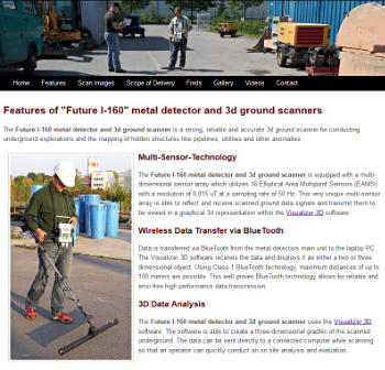 Future I-160 Metal Detector and 3D Ground Scanner for Archaeology and Industry